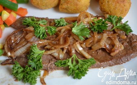 Рецепт Маринованные стейки с луком