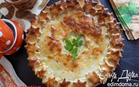 Рецепт Домашний пирог с картофелем и курицей