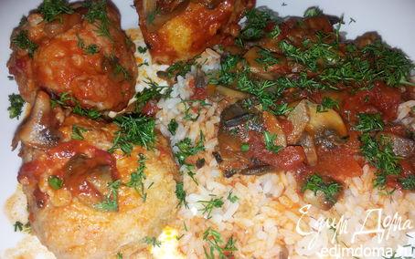 Рецепт Рыбные тефтели в томатном соусе с рисом