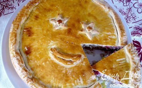 Рецепт Пирог с тунцом и брусникой «Обыкновенное чудо»