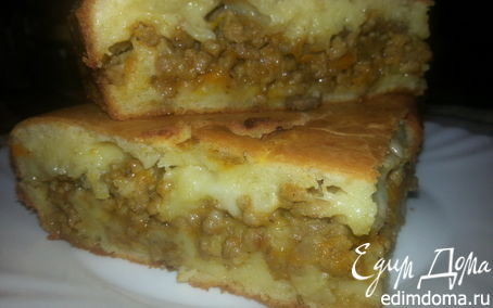Рецепт Пирог из фарша с грибами