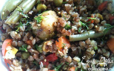 Рецепт Гречка с овощами для худеющих в мультиварке