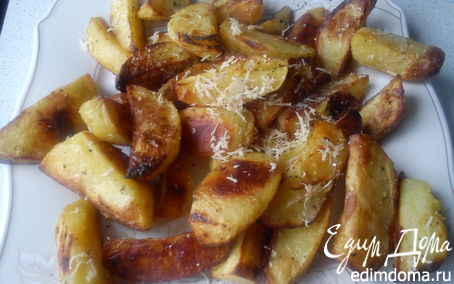 Рецепт Картофель с пармезаном и травами