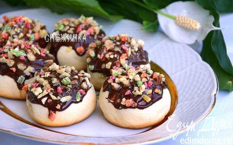 Рецепт Печенье «Колобки» с начинкой из чернослива и кураги с грецким орехом