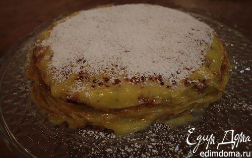 Рецепт Блинный торт с лимонным кремом