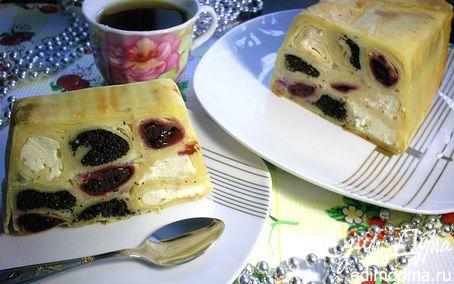 """Рецепт Блинный пирог с тремя начинками """"Вышиванка"""""""