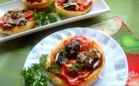 Рецепт Мини-пицца с грибами и ветчиной