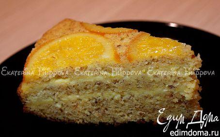 Рецепт Апельсиновый торт с лимонно-апельсиновым кремом