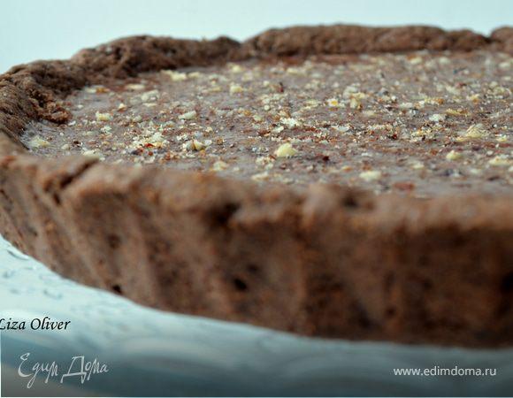 Открытый шоколадно-карамельный пирог
