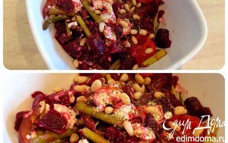 Рецепт Салат из печеной свеклы с козьим сыром
