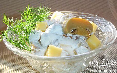 Рецепт Грибной салат с сыром