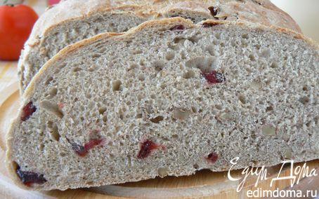 Рецепт Ржаной хлеб с клюквой и грецким орехом