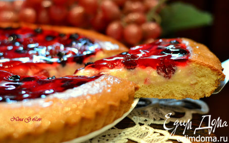 Рецепт Бисквитная корзинка с кремом в ягодном желе (Нежнее нежного)