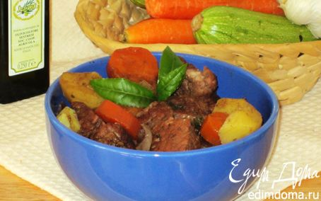 Рецепт Мясо, тушенное с горьким шоколадом
