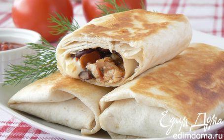 Рецепт Буритто с курицей и фасолью