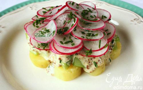 Рецепт Салат с редисом