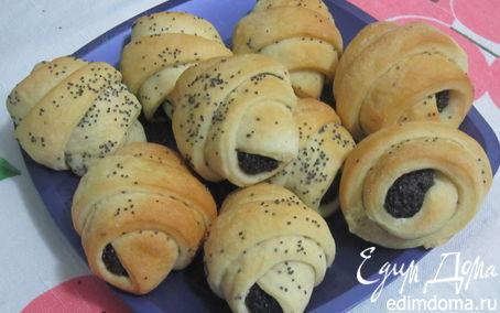 Рецепт Булочки с черносливом и маком