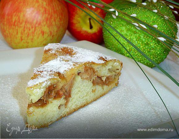рецепт теста для пирога с яблоками в духовке