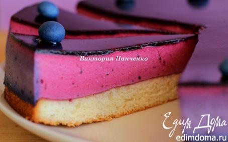 Рецепт Торт с муссом из черной смородины (Black Currant Cake)