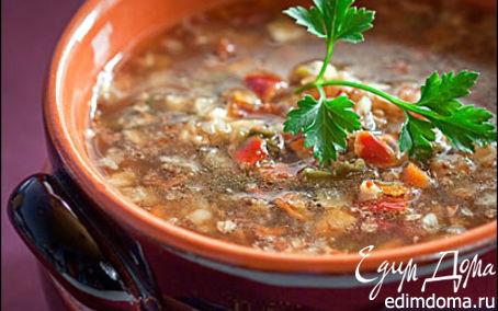 Рецепт Гречневый суп с грибами на основе Ру