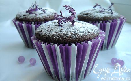 Рецепт Заварные шоколадные кексы с заварным кремом
