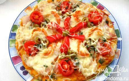 Рецепт Пицца на творожном тесте