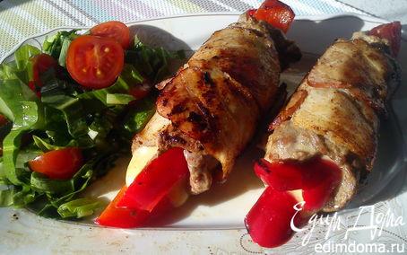 Рецепт Рулетики с сыром и перцем