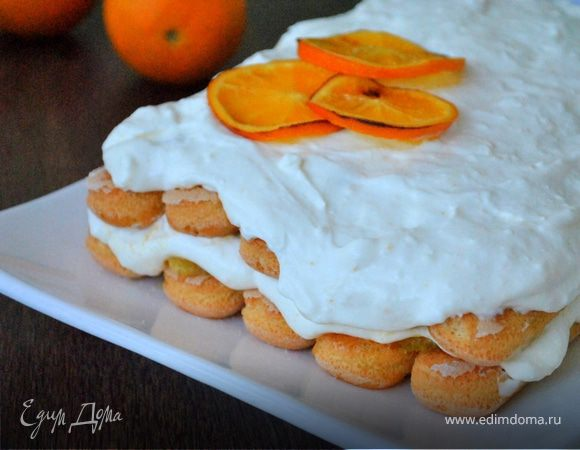Тосканский творожный десерт с апельсинами