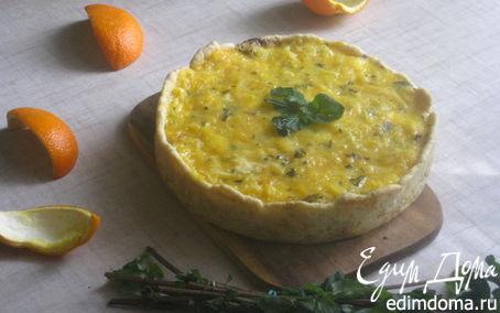 """Рецепт Апельсиново-мятный чизкейк """"Апрель"""" (Orange et au fromage la menthe «Avril»)"""