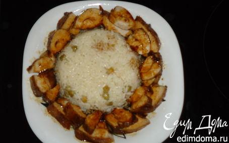Рецепт Рис с курицей в кисло-сладком соусе