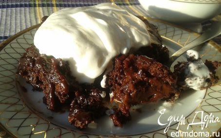 Рецепт Сливочно-шоколадный кекс-пудинг по старинному рецепту