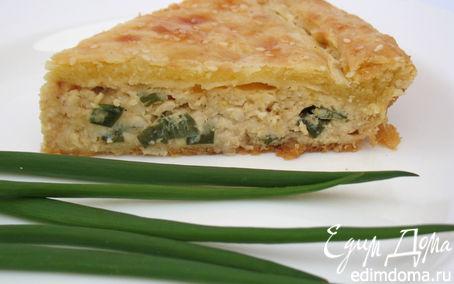 Рецепт Пирог с луком и плавленными сырками