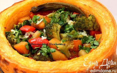 Рецепт Постное овощное рагу в тыкве