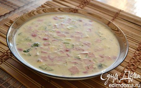 Рецепт Окрошка на кефире и минеральной воде