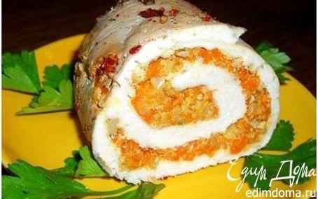 Рецепт Мясной рулет с начинкой из тыквы