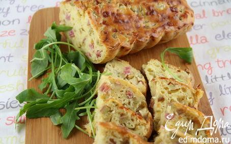Рецепт Закусочный кекс с ветчиной, сыром грюер и оливками