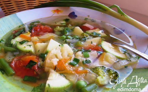 Рецепт Овощной диетический суп