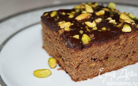 Рецепт Брауни с фисташками и шоколадной глазурью с кленовым сиропом