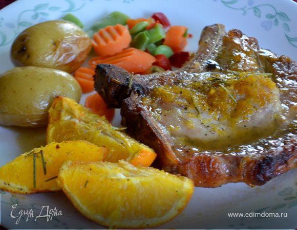 Свиные отбивные в медовой-апельсиновой глазури