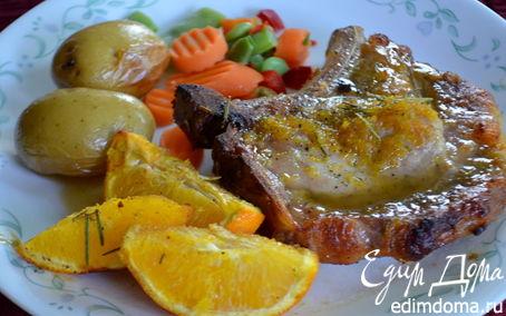 Рецепт Свиные отбивные в медовой-апельсиновой глазури