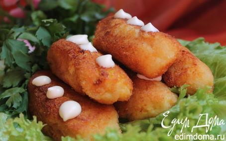 Рецепт Картофельные колбаски с творогом и манкой