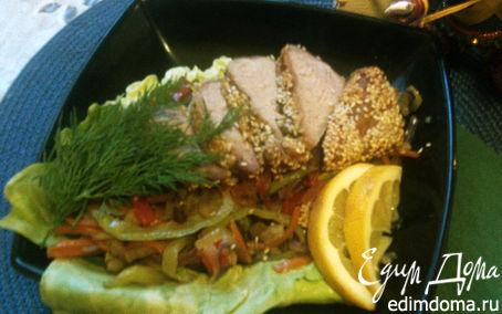 Рецепт Телятина с овощами жульен