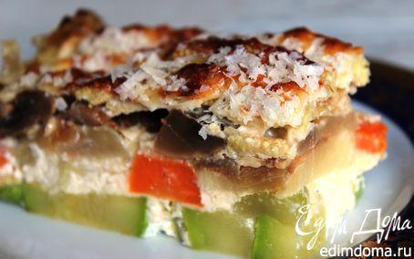 Рецепт Соте-запеканка из овощей с грибами