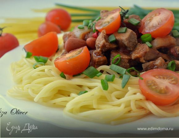 """Спагетти с соусом """"Цинциннати"""""""