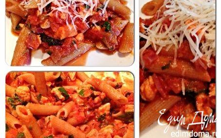 Рецепт Паста с томатами и лососем