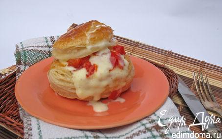 Рецепт Французская слойка с яйцом пашот