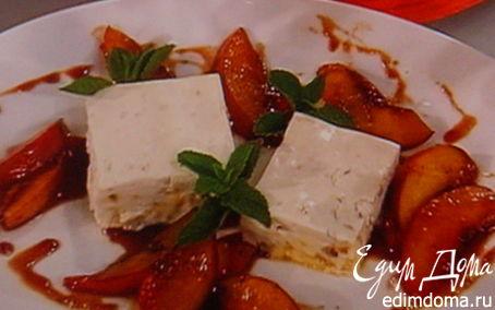 Рецепт Персиковый парфе с крокантом из миндаля