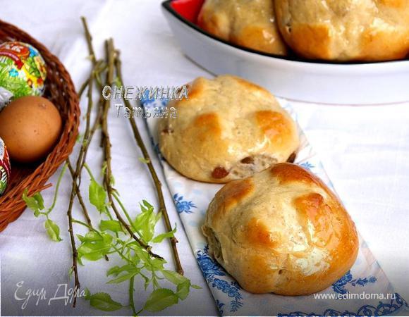Английские пасхальные булочки (Hot cross buns)