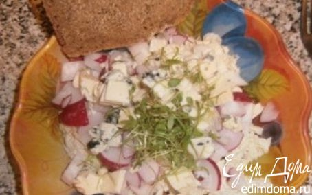 Рецепт салат с проростками кресс-салата