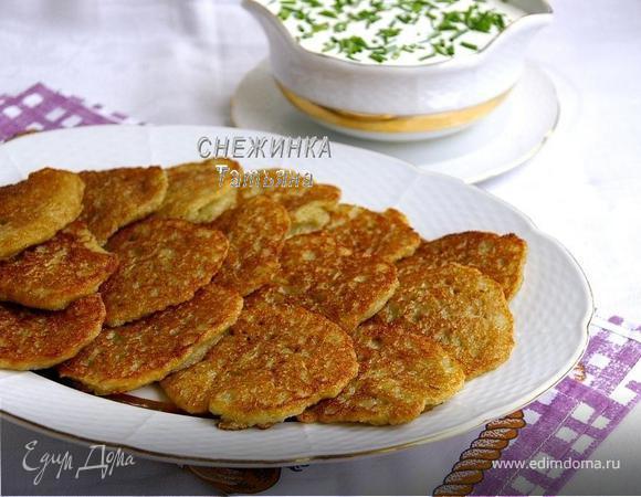 Заварные картофельные оладьи (Аладкі бульбяныя, заварныя)